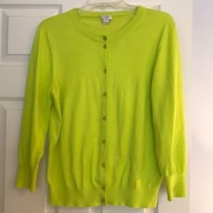 J Crew Clare Cotton Cardigan EUC